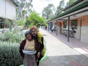 Wendy with precious Diosalinda at senior care home in Chordeleg, Ecuador