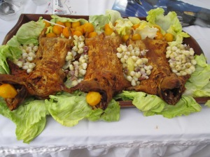 cuy aka roasted guinea pig, a favorite Cuencano food