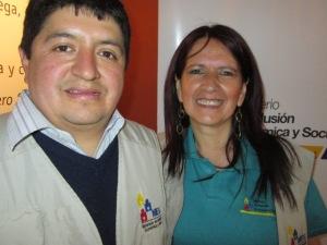 Pedro Calle, MIES sociologist w/ Lcda Yolanda Arias, MIES Senior Analyst