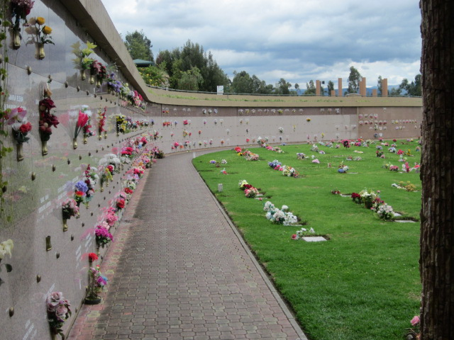 Camposanto Santa Ana, a    cemetery in Cuenca, Ecuador