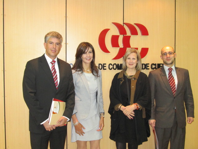 Director General Simon Toral, Attorney Grace Velastegui, Senior Care Consultant Wendy Jane Carrel, Chamber President Atty Jaime Moreno