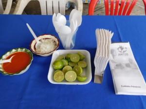 setting tables for the kermes