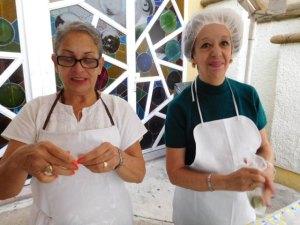 volunteer nurse Rocio and volunteer coordinator Nena
