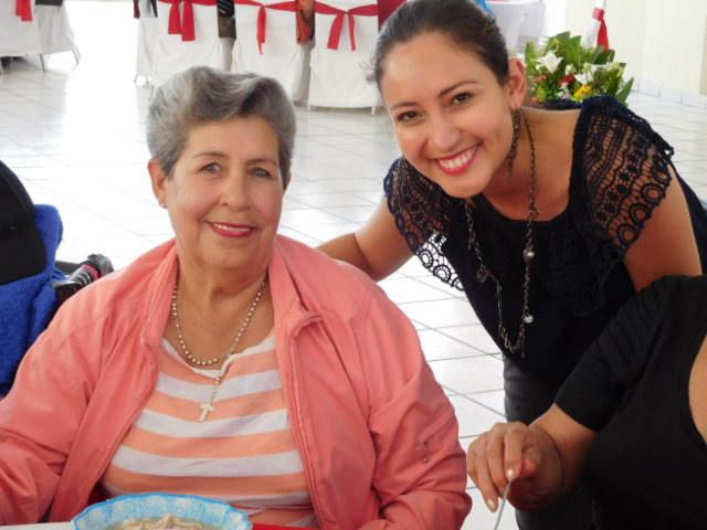 sweet resident with sweet volunteer Mari